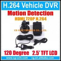 Original DVR007 H.264 HDMI 720p 1280*720/848*480 30FPS Portable Car DVR w/2.5 TFT LCD w/Motion Detection