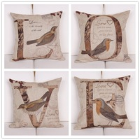 "Наволочки 18""X18""pillow cover Cushion cover, cotton linen with sofa cushion LOVE cushion cover"