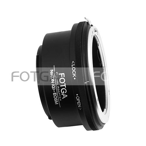Fotga lens Adapter for Nikon G AF-S Lens to Canon EOSM EF-M mirrorless camera EOSM EOSM5/6/10/100
