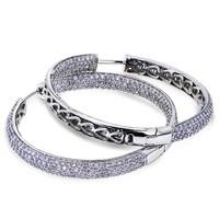 Серьги висячие Elegant jewelery , Micro Pave Y 61023-01-31