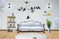 Продажа! Арт деко творческие настенные часы моды часы маленькая птица настенные часы