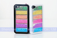 Чехол для для мобильных телефонов Deluxe Movable Crystal Bling Rainbow Hard Back Case Cover for iPhone 5 5G 5S