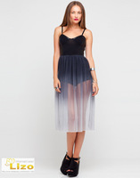 Женское платье MOTEL DELUXE GLADDY EDGY CHIC SEXY LOOK DRESS KNICKER DRESS IN BLACK OMBRE MESH