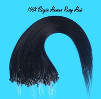 Mac makeup Straight Micro Loop Ring Remy Human Hair Extensions 0.85g/strand 85g/pack Brazilian hair on