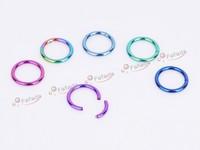 Ювелирное украшение для тела 6 pcs Titanium Segment Ring Hoop Seemless Eyebrow Lip Ear Colored Body Piercing