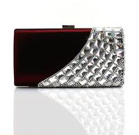 мода горный хрусталь вечерние сумки сумки пятно сцепления 12025