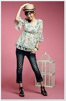 2011 latest  printed chiffon Japan / Korea fashion clothing