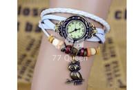 Наручные часы 77 Queen]71041 Vintage ladies watch Owl Pendant item hours Bead Bracelet Watches