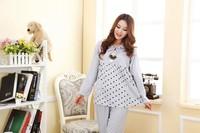 Пижама для беременных Spring autumn new long sleeve cartoon cute pajamas for women maternity dress sleepwear casual clothes for pregnant women t13