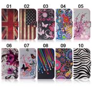 Чехол для для мобильных телефонов New Butterfly Flower Flag Designer Wallet Flip Stand Book Cover Case For iphone 5 5g 5s1pc /lot, free shpping