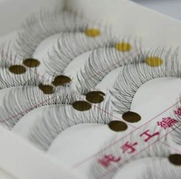 Накладные ресницы 10 Pairs Handmade Fake False Eyelash Natural Look Transparent Stem 217