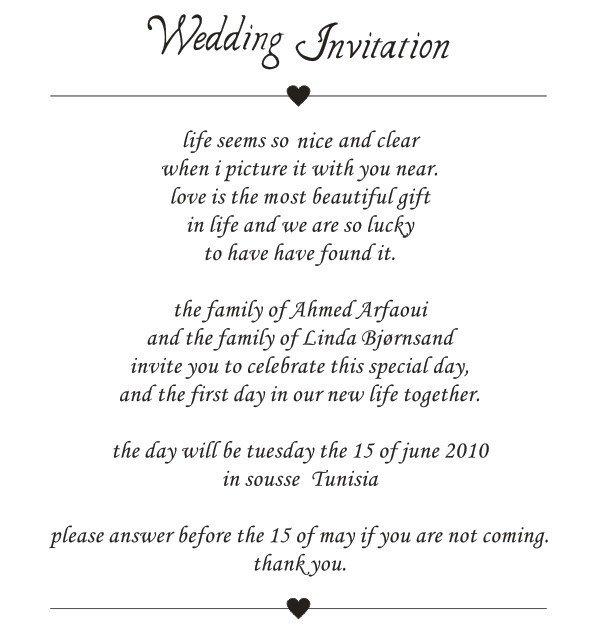 Couple Hosting Wedding Invitation Wording is perfect invitation layout