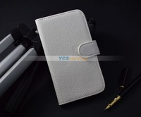 Чехол для для мобильных телефонов High quality Litchi leather case cover for LG Optimus L5 ii E460 with wallet, stand function and card holder