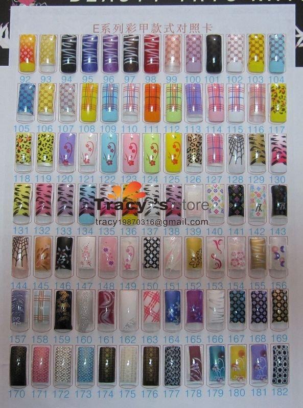 Wholesale 672 Designs Mix Fake False French Airbrush Tips Uv Acrylic