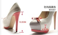 August/sweety sexy woman pumps,small bowtie vogue high heels,girls heorshe,patent leather