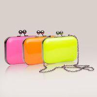 Маленькая сумочка 2013 women's handbag neon color evening bag day clutch women's handbag chain bag messenger bag