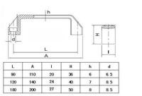 L120 нейлона ручки 100шт/уп - алюминиевые профили Аксессуары