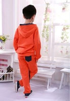 Комплект одежды для девочек 2013The new children's fashion leisure suit boy spring autumn cotton imitation cowboy suit tracksuit sportswear