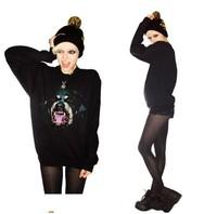 Восток вязание fh-236 женщина шикарная собака головы rottweil печать Толстовки новый бренд Кофты Женские пуловеры