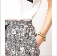 Min. order mix item $12 Jewelry wholesale  punk Gold fashion metal Charm Bracelet  JB14