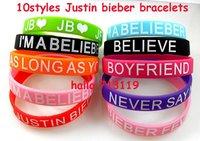 100xJustin Bieber Bracelets JB Wristbands 10styles Top Mix Wholesale Fashion Jewelry BELIEVE AS LONG AS YOU LOVE ME