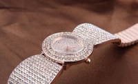 "Наручные часы Min.order is $15 NEW Crystal Rhinestone Rose Gold women' watch 100% Excellent Quality ""$10 off per $100 order"
