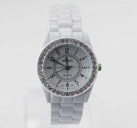 Free Shipping! Hot! Fashion&Luxury High Quality White Bangle Bracelet Quartz Wrist Watch, BHG