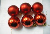 Рождественская елка украшения Рождественские украшения красный Пластиковая краска мяч 30pcs/лот