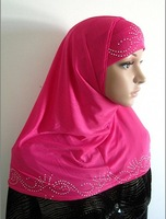 YTT003 FAST DELIVERY,free shipping TWO PIECES muslim underscarf hijab