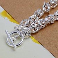 Ювелирное изделие 925 Silver Bracelet Fashion Jewelry Pretty Knot TO Clasp Chain Bracelet/Bangle H033