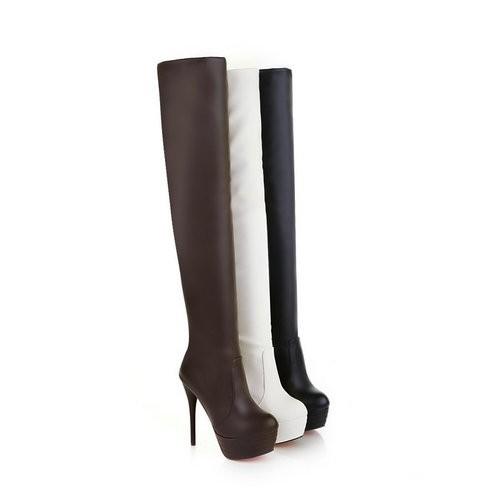 New Hot Women Winter Ladies Over Knee High Heel Boots Half Boot Shoes