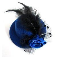 5 цветов перо розы мини-Топ вуаль шляпа Девичник головной убор клип 8 см Чародей [040723