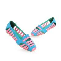 Женские сандалии Casual Footwear Flat Heel Women's Sandals PU Leather Hollow Out Ladies' Ballet Shoes Size US 2-15/EU 32-48 S267