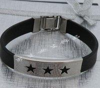 Steel titanium fashion Men and women silicone bracelet mix batch 40pcs=1lot