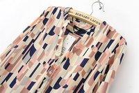 Футболка Women Long Sleeve Lapel Collar Print Blouses Shirt 2/81105