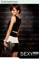 Женское платье excellent quality, unique fashion striped popular hot selling vest skirt