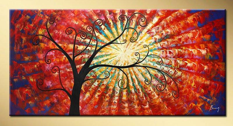pintura al óleo moderna abstractas de árboles en Pintura y ...