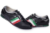 Мужская обувь на плоской платформе ,  leisture 100% leather.men, quality.ship ems