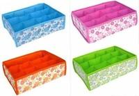 Бокс для хранения Bling Recommend 10pcs/lot Folding 12 Grid Storage Box For Bra, Underwear, Socks 31*23*11CM