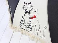 любителей сладкий кот кошек зонтик 1шт зонт пагода зонтик vip дождя и блеск Зонты Япония черный