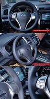Автомобильные держатели и подставки 2013 Nissan Teana Nissan Altima Nissan Rogue Car Special Hand-stitched Black Leather Steering Wheel Cover