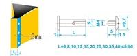 Прокладки для крепежа 5*10mm x 100pcs brass plated binding post screw bolt