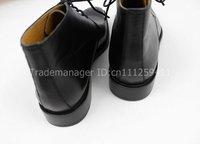 bespoke handmade pure calfskin leather color black men's boots