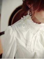 best selling women's Chiffon Denim shirt ladies Blouse Summer Fashion slim tops long sleeve white black color