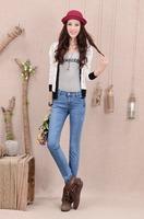 2013 new winter women's casual women's jeans feet pencil pants