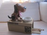 Монета Банка голодный пес ест сохранить деньги box забавный подарок собака коллекции коричневый с черным патчи бесплатно падение судоходство