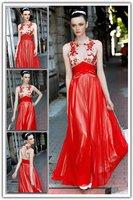 Free Shipping imitation star models tail long wedding dress bridal gown bridesmaid dress clothing Lake blue