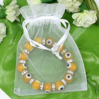 Упаковочные пакеты 100 White Drawable Organza Wedding Gift Bags&Pouches 9x7cm