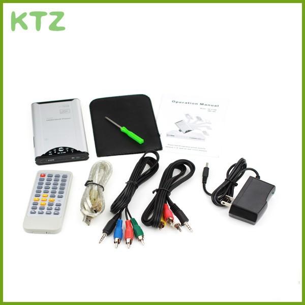5pcs/lot multimedya tv kutusu hdd medya oynatıcı video çalarlar destek hd sürücü usb sd mmc kartı ücretsiz nakliye