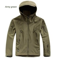 HOT TAD V 4.0 Men Outdoor Hunting Camping Waterproof Coats Jacket Hoodie Soft Shell Jacket XS - XXL (Army green)